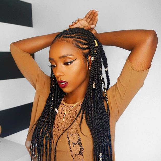 Trendy Style for Fulani braids for Summer 2018 - Nails C