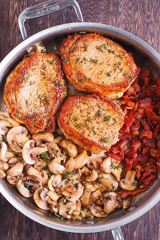 Bacon And Mushroom Smothered Pork Chops Julia S Album