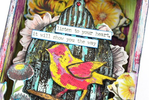 Meihsia Liu Simply Paper Crafts Mixed Media Box Bird Cage Fly Simon Says Stamp Tim Holtz 3