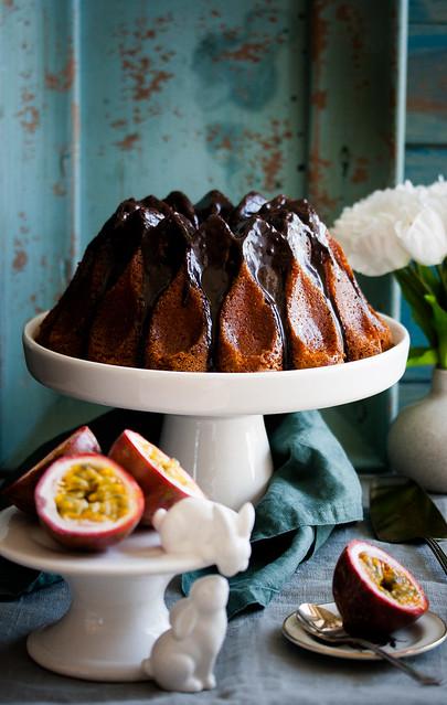 Passionsfrucht-Schokoladen Kuchen