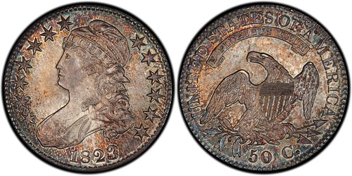 1823 Patched 3 Half Dollar