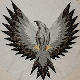 Eagle Quilt: dark beak