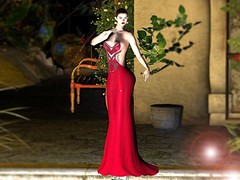 .:(CW):. Elle Gown Dress - Cherry