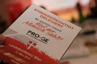 PRO-GE Landeskonferenz Wien