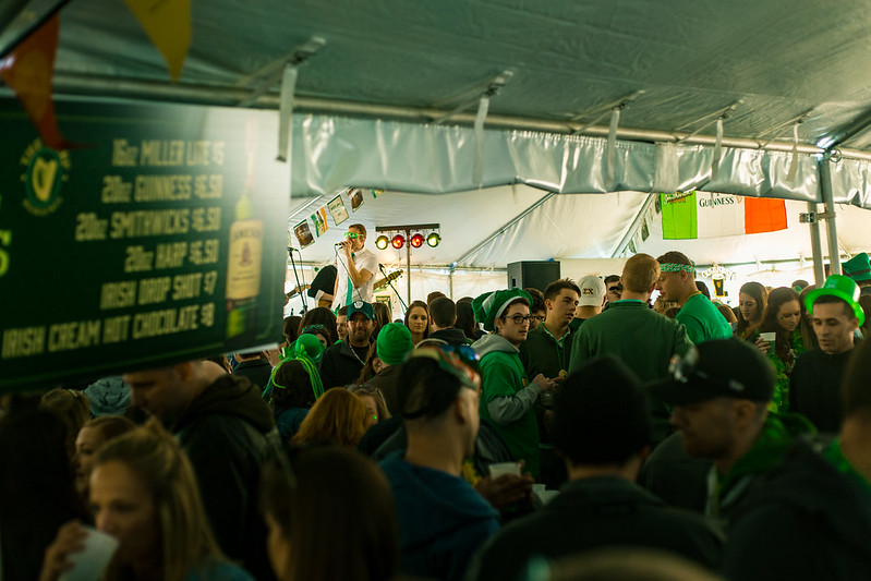 St. Patrick's Day Tent