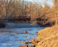 Chagrin River and bridge - Chagrin River Park