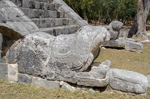 Dragons at Chichen Itza