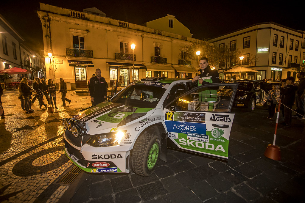 12 KOCI Martin (svk), SCHOVANEK Filip (cze), SKODA SLOVAKIA MOTORSPORT, SKODA FABIA R5, portrait during the 2018 European Rally Championship ERC Azores rally,  from March 22 to 24, at Ponta Delgada Portugal - Photo Gregory Lenormand / DPPI