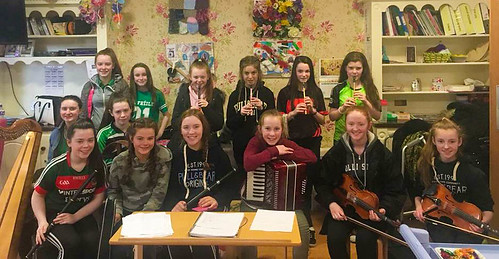 St Louis Monaghan traditional musicians perform for residents of Drumbear Nursing Home