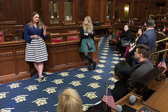 Rep. Cummings meets with members of Leadership Greater Waterbury, a personal and career development program,  who were touring the capitol.
