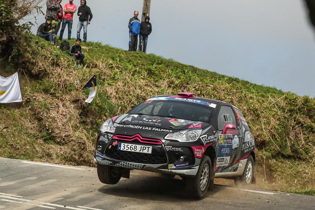 54 FALCON RODRIGUEZ Emma Maria, (esp) GONZALES DELGADO Eduardo (esp), Citroen DS3 R3T, action during the 2018 European Rally Championship ERC Azores rally,  from March 22 to 24, at Ponta Delgada Portugal - Photo DPPI