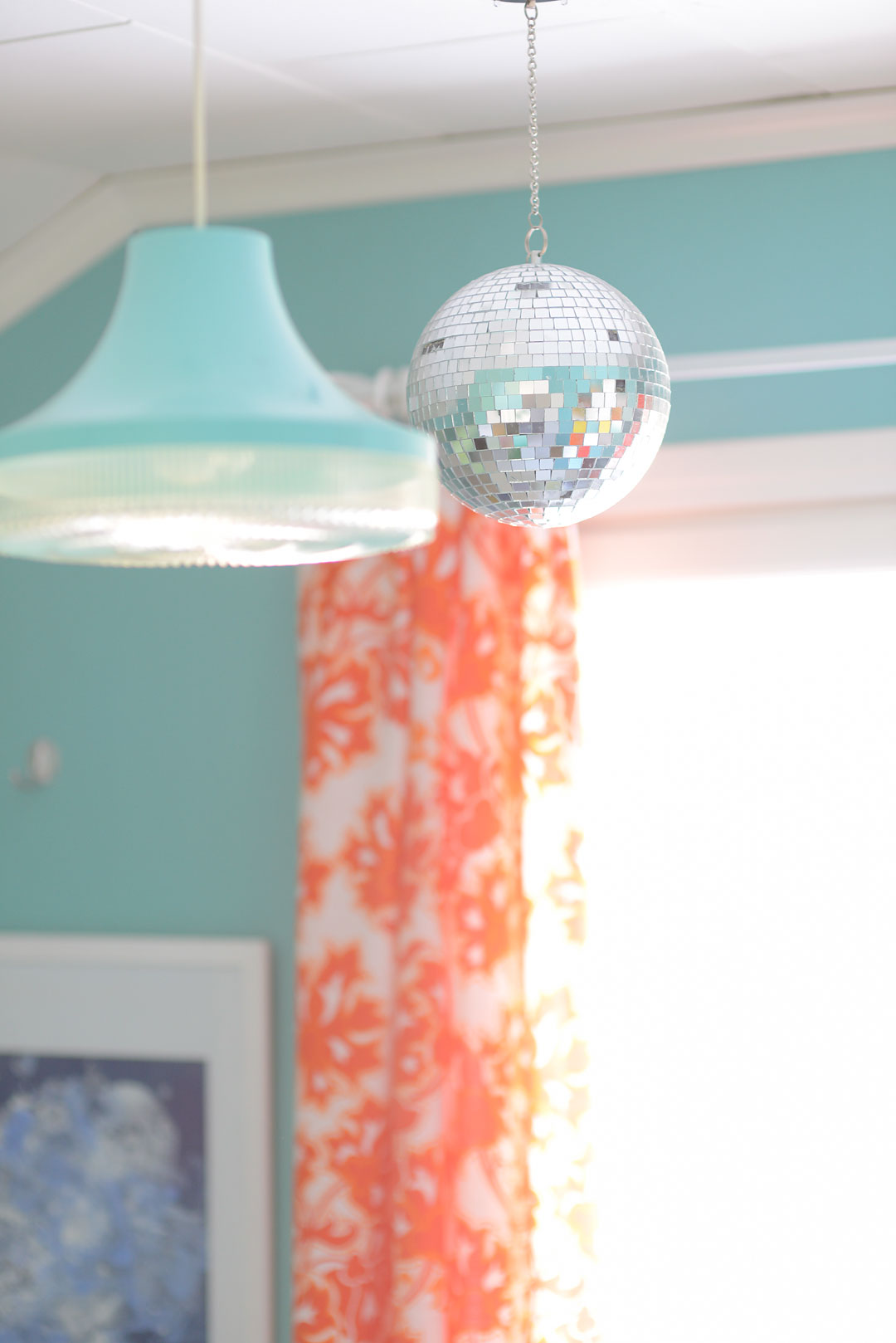 Disco ball in the kids room