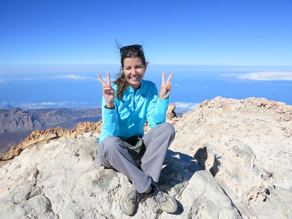 Foto en el pico del Teide
