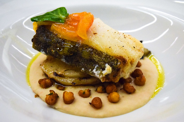 Skrei Cod with Braised Fennel, Butterbean Puree & Chickpeas at Table Cafe, Southwark #cod #fennel #butterbean #fish #london