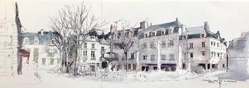 CHINON Place Mirabeau