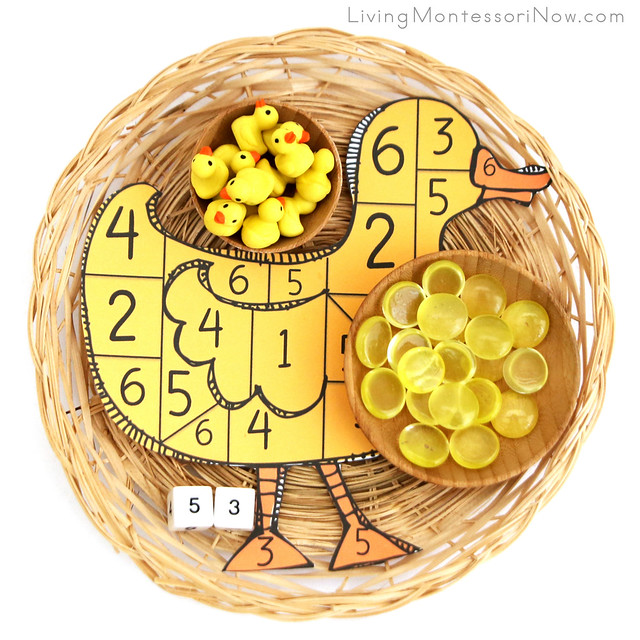 Duckling Dice Game for Counting or Addition