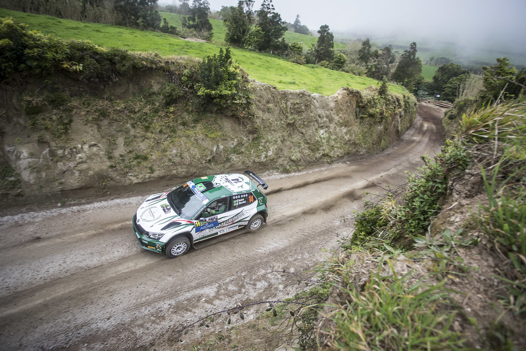 14 NOBRE Paulo (bra), MORALES Gabriel (bra), PALMEIRINHA RALLY, SKODA FABIA R5, action during the 2018 European Rally Championship ERC Azores rally,  from March 22 to 24, at Ponta Delgada Portugal - Photo Gregory Lenormand / DPPI