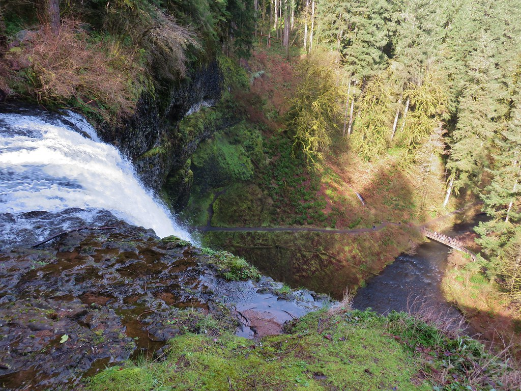 Looking down from the top of South Falls