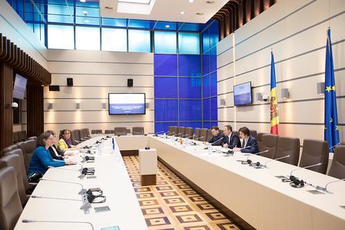 03.04.2018 Întrevedere Andrian Candu cu Coraportorii Comisiei de Monitorizare a Adunării Parlamentare a Consiliului Europei, Egidijus Vareikis și Maryvonne Blondin