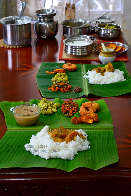 South Indain lunch menu