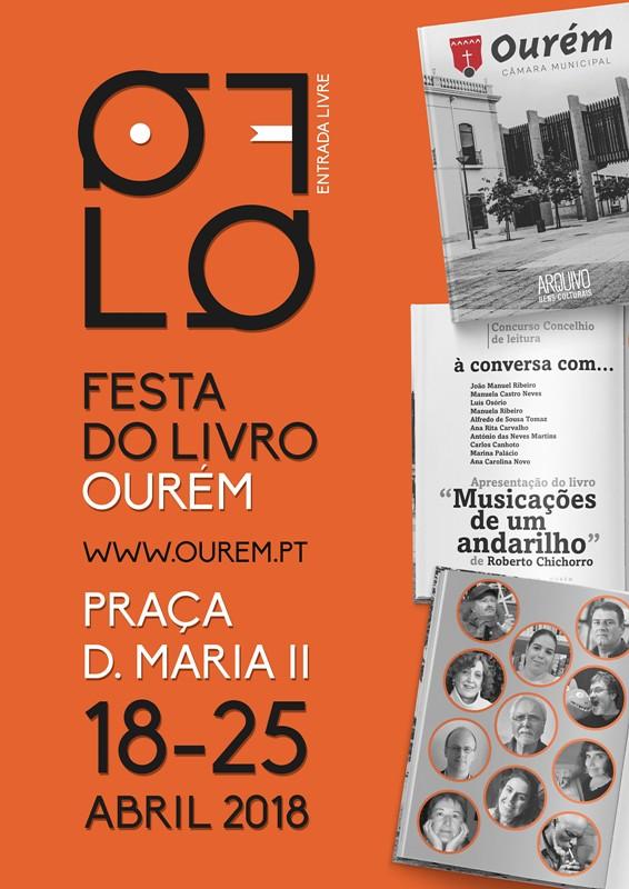 Cartaz Festa Livro de Ourém 2018