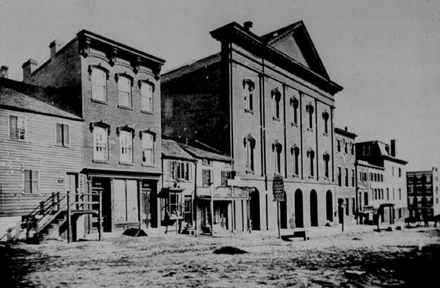 Ford's New Theatre, Washington DC, circa 1865.
