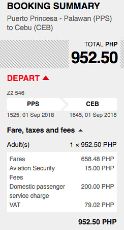 Puerto Princesa to Cebu AirAsia Promo September 1, 2018