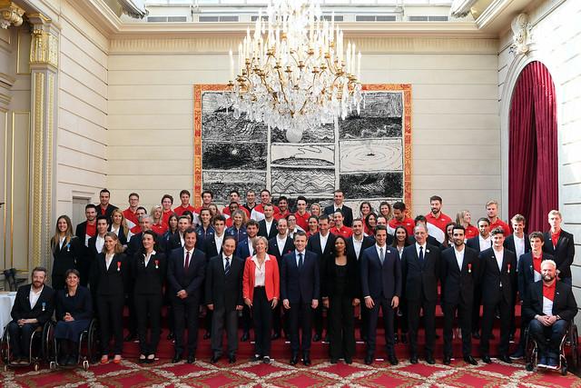 Réception à l'Elysée des athlètes olympiques et paralympiques - PyeongChang 2018