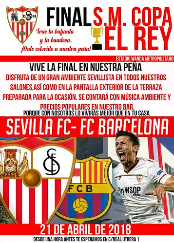 Final de la Copa del Rey en la Peña Sevillista