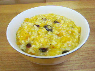 'Acorn' Squash Risotto with Cranberries