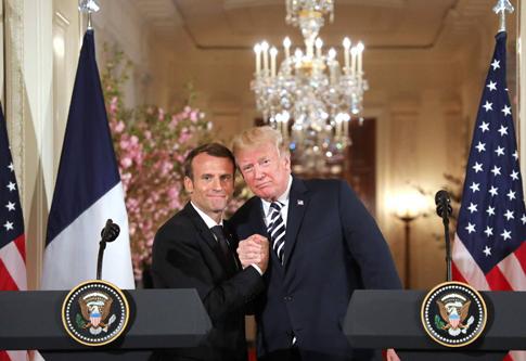 18d24 Foto Ludovic Marin AFP Donald Trump y Emmanuel Macron, en la Casa Blanca el martes 24 abril 2018 Uti 485