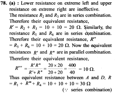NEET AIPMT Physics Chapter Wise Solutions - Current Electricity explanation 78