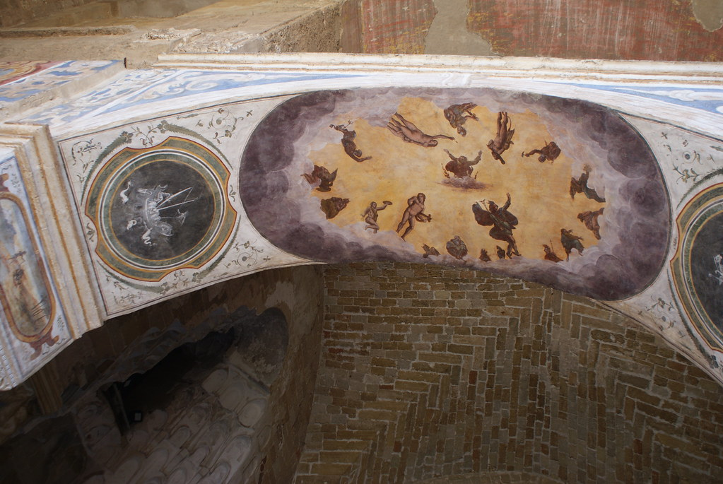 Fresque du Palais de la Zisa à Palerme.