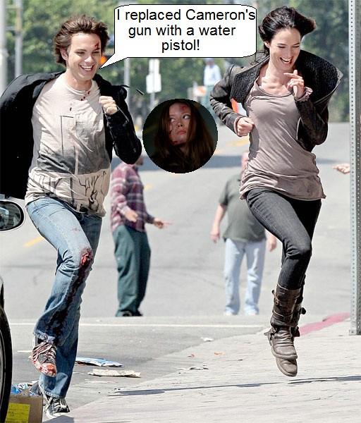 Summer Glau tscc Cameron water pistol funny