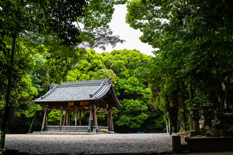 桶狭間神明社の舞台