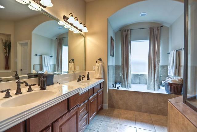 Decorated With Bronze Bathroom Lighting