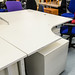 Cantilever desk white radial 1600*1200 E130