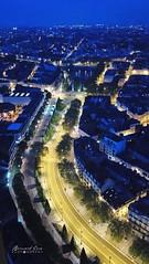 Heure bleue, Nantes vue du ciel :copyright: Bernard Grua