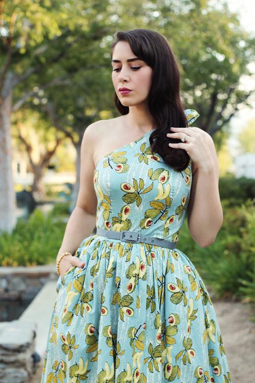 Bettie Page Belinda Dress in Avocado