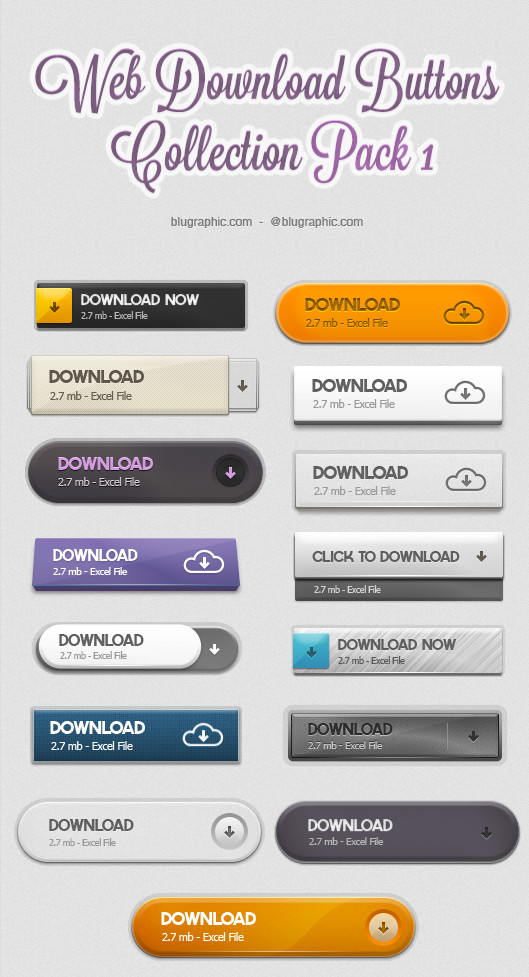 Download Buttons Pack 1