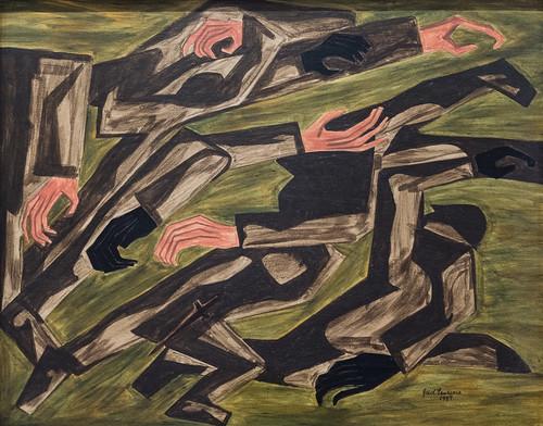 Jacob Lawrence, War Series: Purple Hearts, 1947 1/15/18 #whitneymuseum