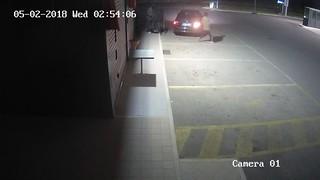 La BMW nera ripresa dalla telecamera