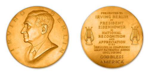 Irving Berlin Cong. Gold Medal