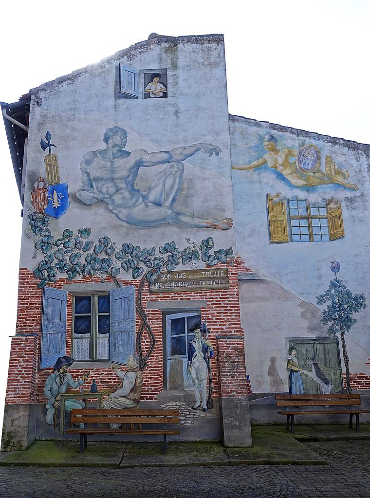 Maison bistro, Albi, France.
