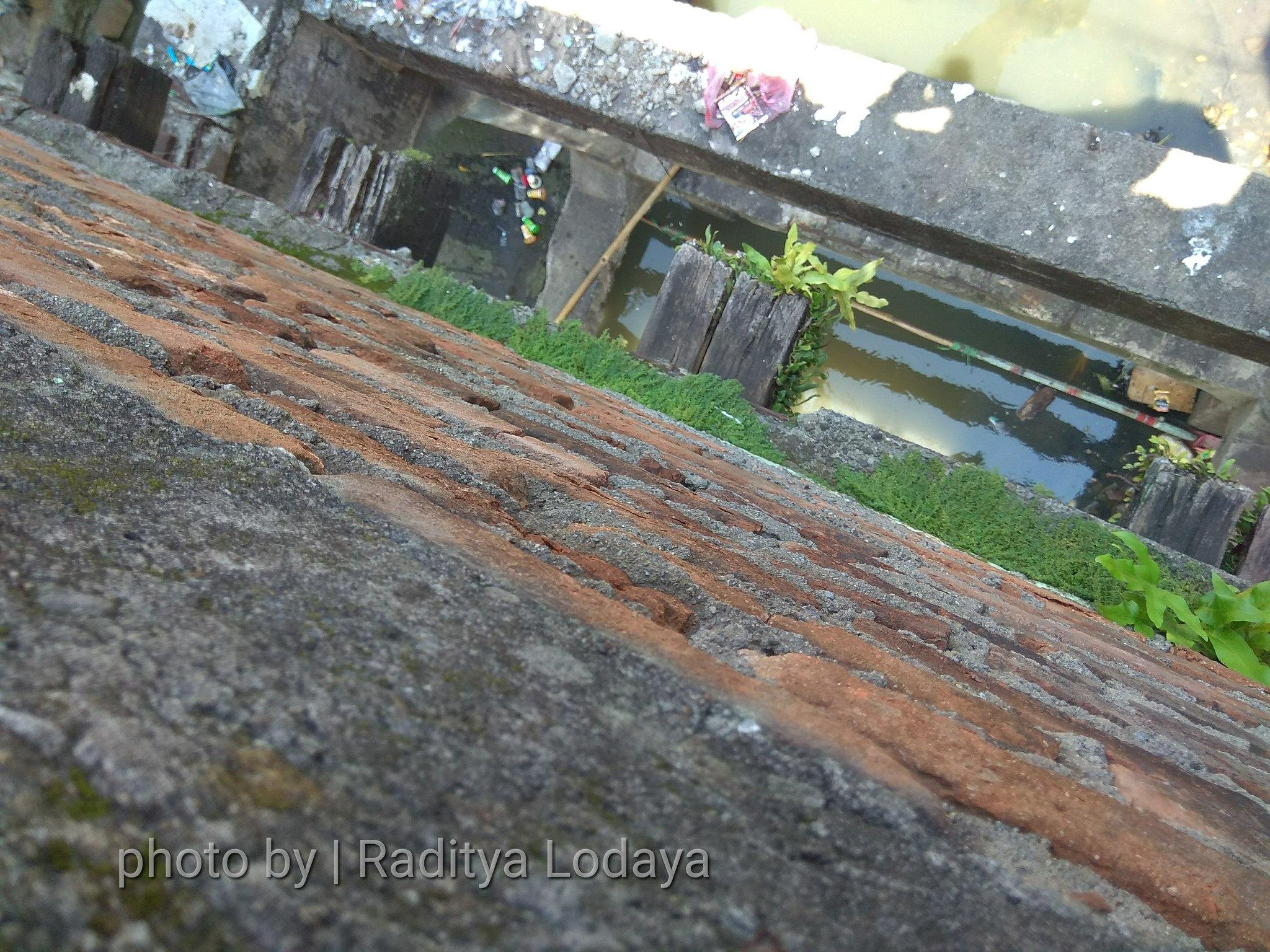 Foto Jalur Rel Mati Bandung (Kiaracondong Karees) 37 - Bantalan kayu di bawah bekas jembatan kereta api