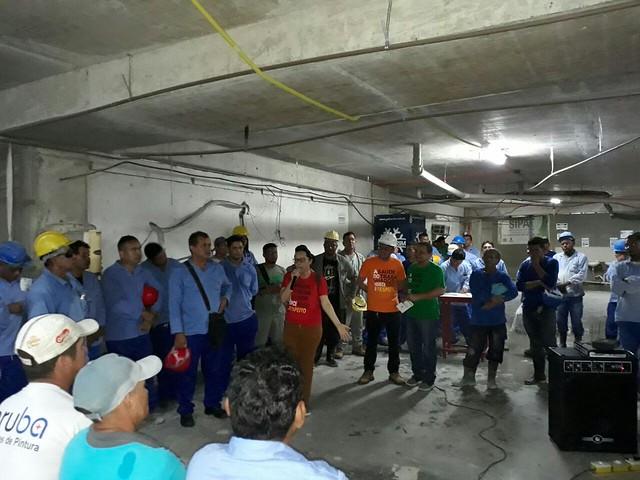 26.04.18 Manaus promove para trabalhadores atividade educativa para a prevenção de acidentes e mortes no trabalho.