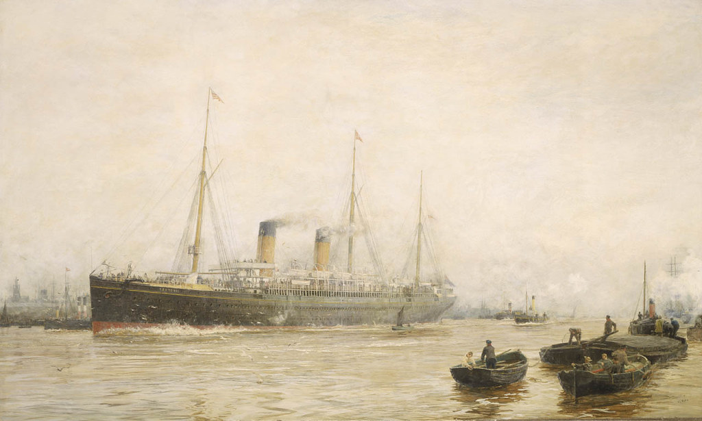 "The ""Teutonic"" leaving Liverpool (1889)"