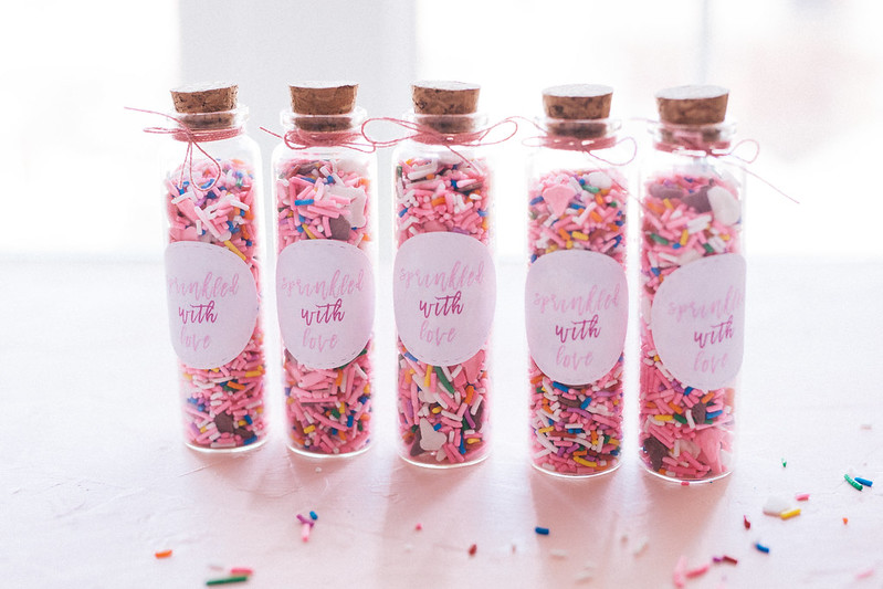 DIY Sprinkle Favours for Bridal Shower