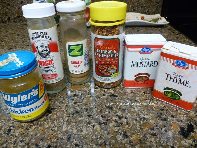 Spring Clean Spice Cabinet at From My Carolina Home