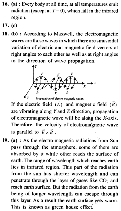 NEET AIPMT Physics Chapter Wise Solutions - Electromagnetic Waves explanation 16,17,18,19